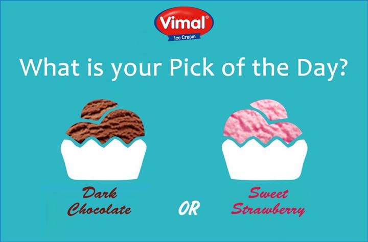 What would you like to eat today?    #ChocolateorStrawberry #IcecreamLovers #ThisorThat #VimalIcecream #Ahmedabad