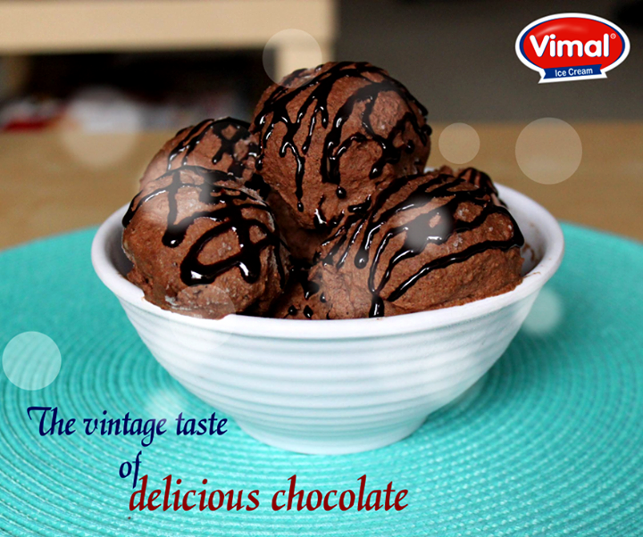 Treat your taste buds with our delicious Chocolate ice-cream!  #ChocolateChips  #IcecreamLovers #DeliciousIcecream #VimalIcecream #Ahmedabad