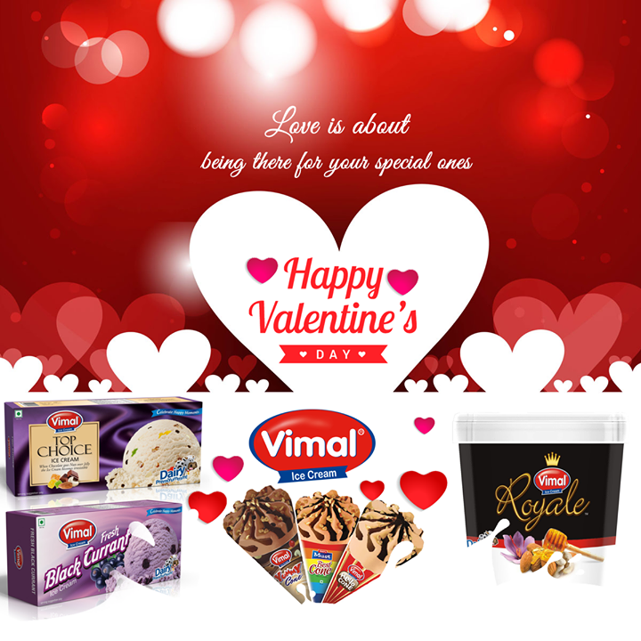 This #Valentines, celebrate the ones you love! #HappyValentinesDay from Vimal Ice Cream..