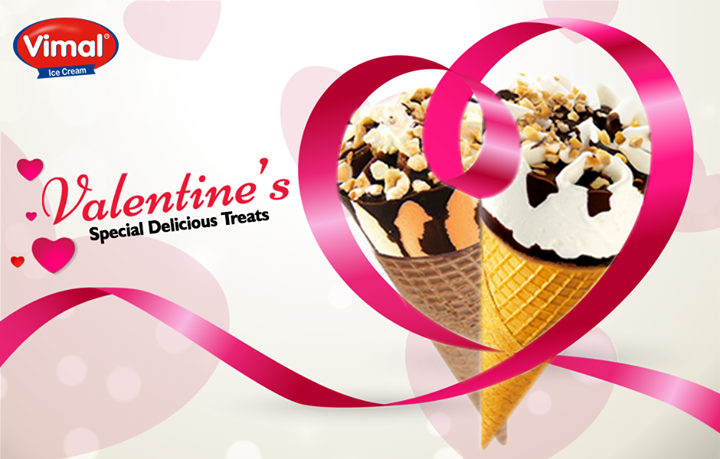 The season of love is right here… Take your taste buds for a ride to a Vimal Ice Cream with our yummy tested Cones!   #ValentinesSpecial #Desserts #IcecreamLovers #ValentinesDay #VimalIcecream #Ahmedabad