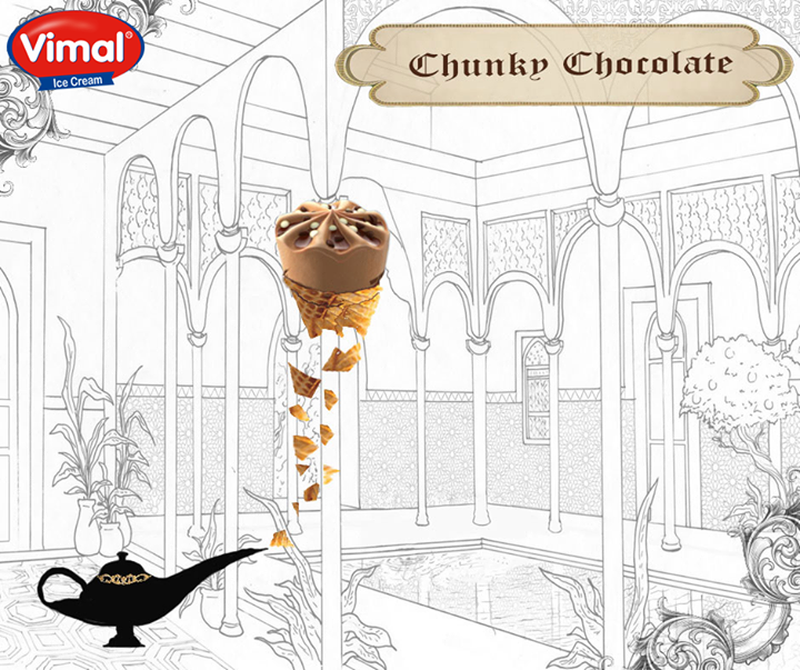 The Genie of happiness is all set to please your taste buds!  What's your wish my lord?  #GenieofHappiness #Icecream #SweetTreats #ChocolateIcecream #IcecreamLovers #VimalIcecream #Ahmedabad