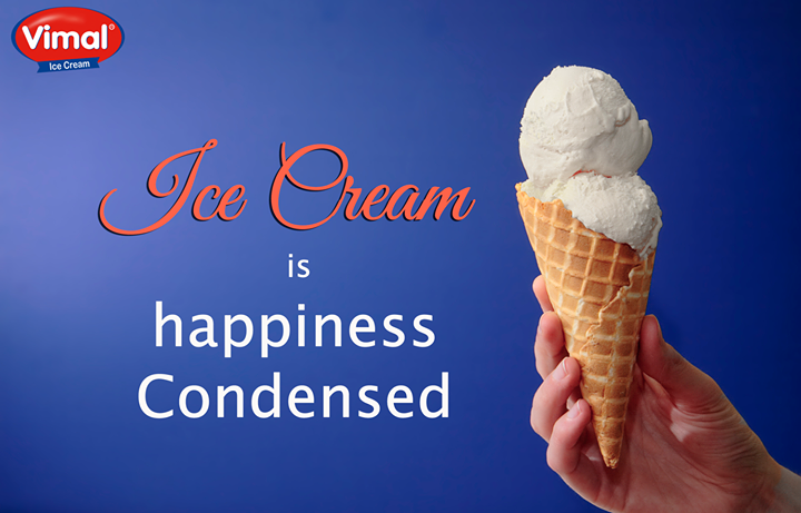 Freeze the moments of happiness and start your week with a #Sweet note!  #Happiness #CondensedHappiness #VimalIcecream #Ahmedabad