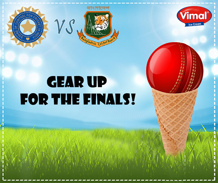 #Weekend + Cricket Match calls for double celebrations! Watch the enthralling India - Bangladesh T 20 Finals with Vimal Ice Cream !  #Match #T20Finals #IndiaVsBangladesh #CricketMatch #IcecreamLovers #VimalIcecream #Ahmedabad