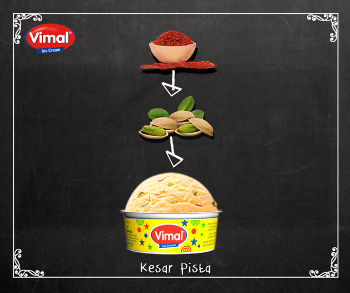 Made from the finest #ingredients !   #Icecream #KesarPista #IcecreamLovers #VimalIcecream #Ahmedabad