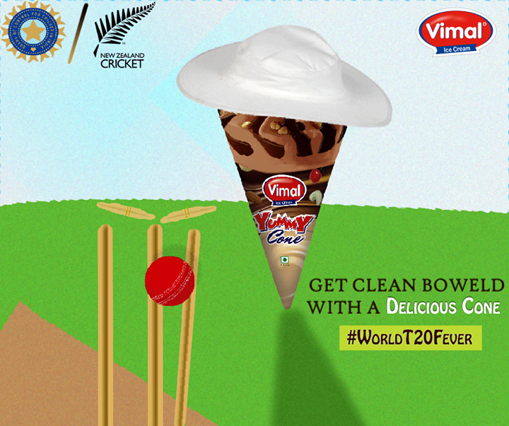 With our armed heroes ready to rock the ground, celebrate the enticing tournament with Vimal Ice Cream !  #IndVsNZ #CricketFever #ICCT20