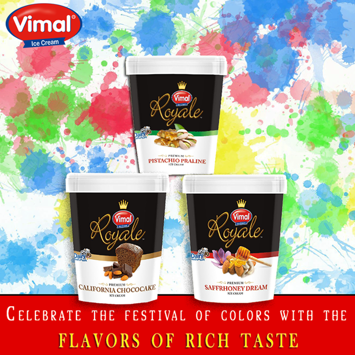 Vimal Ice Cream,  Flavors, FestivalofColors, IcecreamLovers, VimalIcecream, Ahmedabad