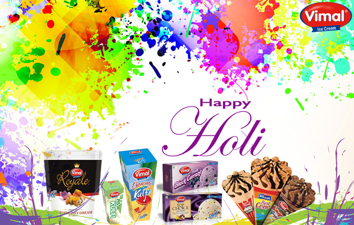 Vimal Ice Cream,  HappyHoli, Holi, FestivalofColors, VimalIcecream, Ahmedabad