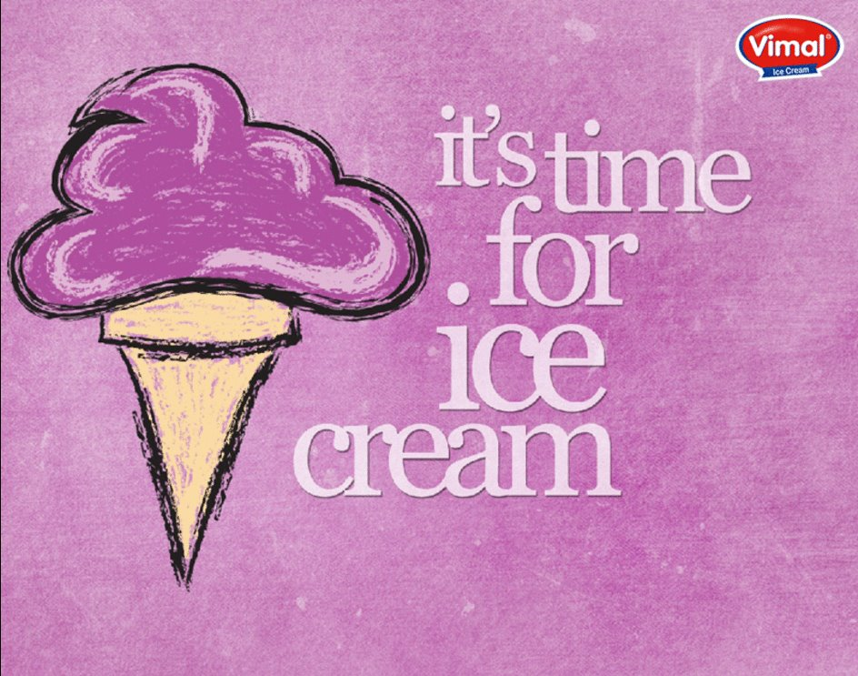 Smile, & enjoy Ice cream! The brightest season of the month is here…  #Summers #Icecream #BrightestMonth #IcecreamLovers #VimalIcecream #Ahmedabad