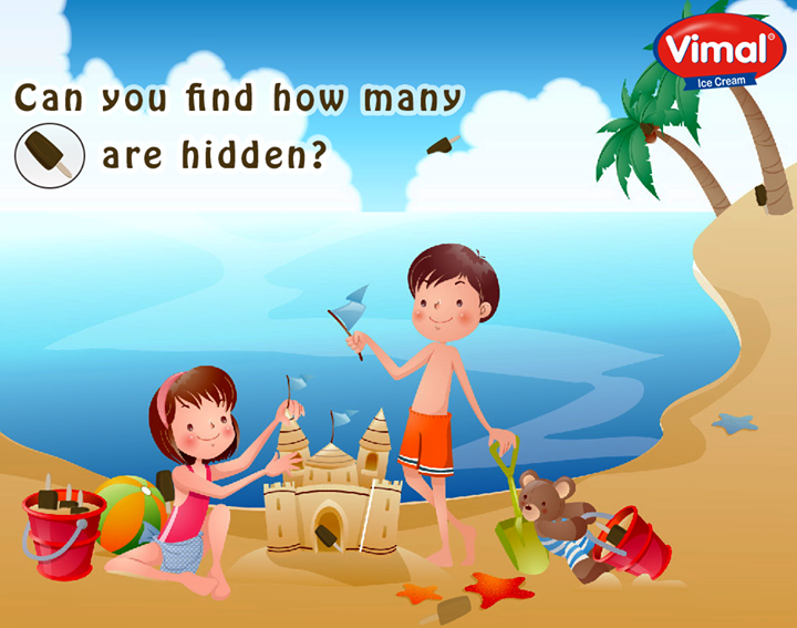 How many candies are hidden in the picture? Count before they melt!  #HiddenCandies #Countifyoucan #IcecreamLovers #VimalIcecream #Ahmedabad