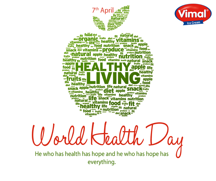 On #WorldHealthDay, lets pledge to follow a healthy lifestyle and improve our food and change the eating habits.