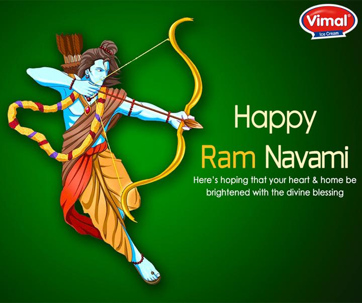 May the festival of Ram Navami shower peace & prosperity.  #RamNavami #HappyRamNavami  #VimalIceCream