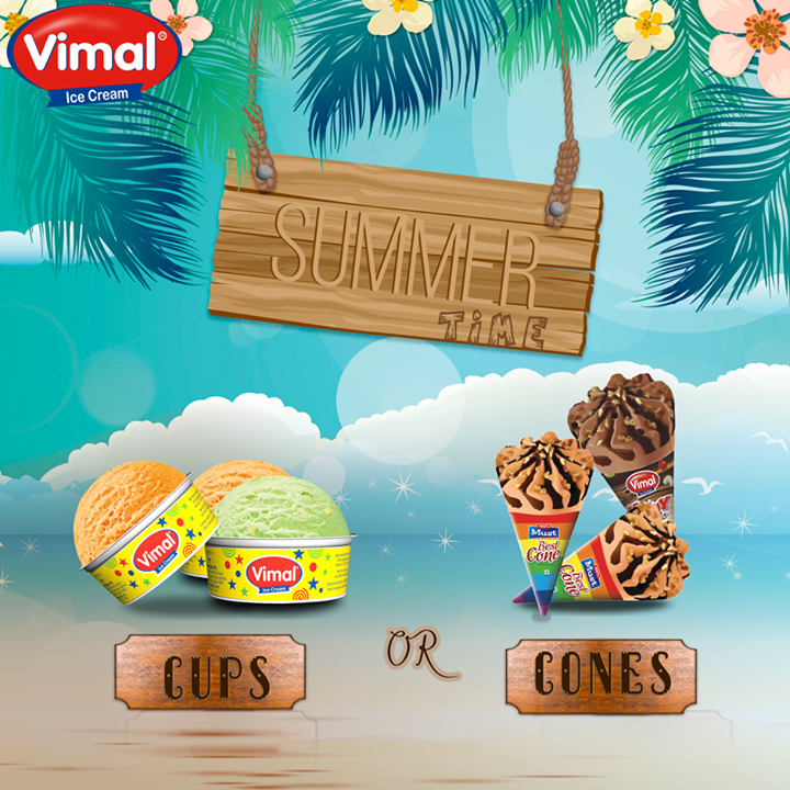 What's your #summertime #IceCream preference? #Cones or #Cups?  #Celebrations #Summer #VimalIceCream #IceCreamLovers