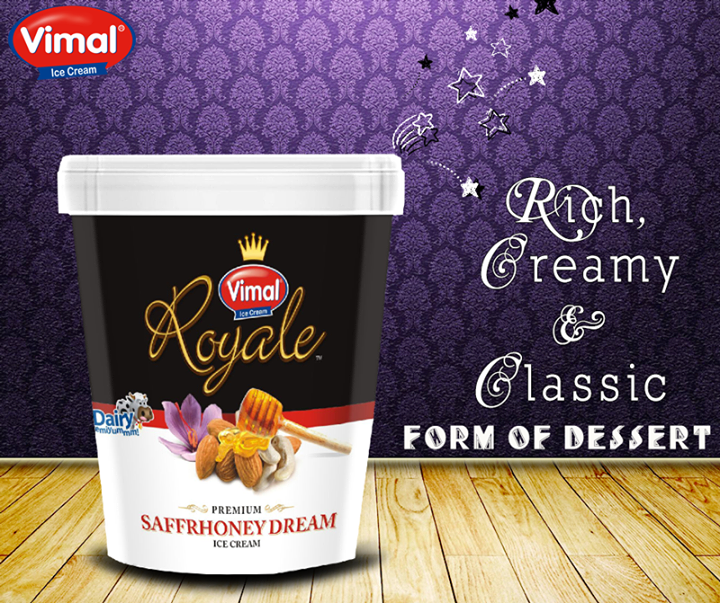 The most faithful translation of this classic dessert is its rich creamy taste! Celebrate summers with this luscious delight from Vimal Ice Cream !  #RichCreamDelight #IceCreamLovers #VimalIcecream #Ahmedabad