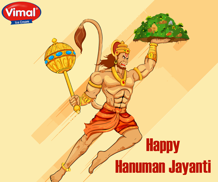 May God Hanuman bless you with Power and Wisdom.  #HappyHanumanJayanti #VimalIcecream #Ahmedabad