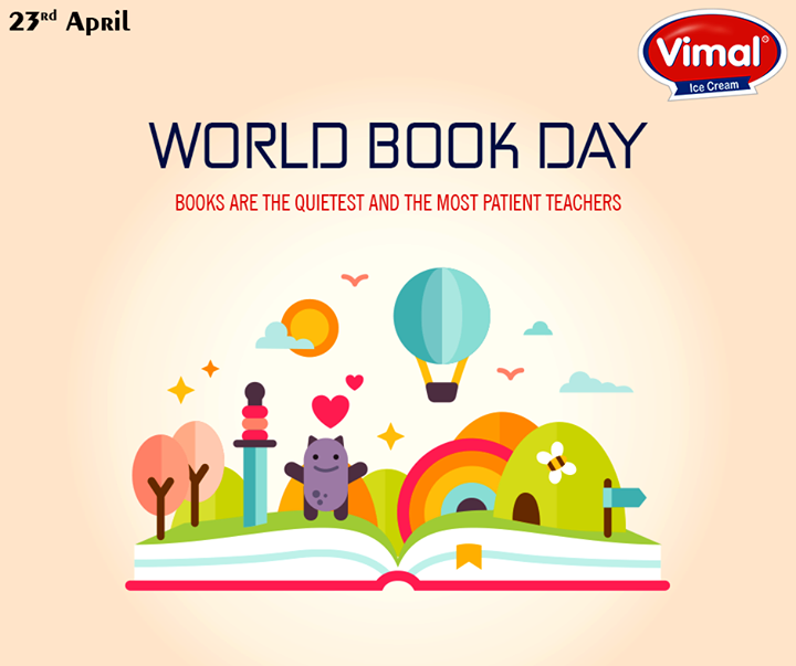 A book is a gift you can open over & over again!  #WorldBookDay #VimalIcecream #Ahmedabad