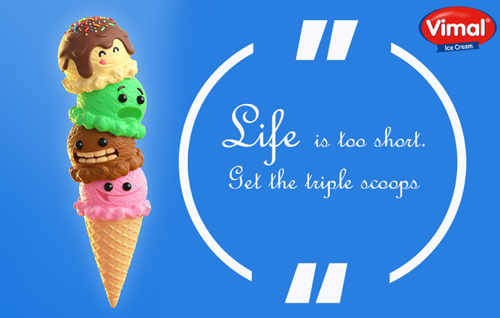 Because ice cream is a universal source of happiness...So, let's make Monday into a fun-day!  #MondayBlues #IcecreamLovers #VimalIcecream #Ahmedabad