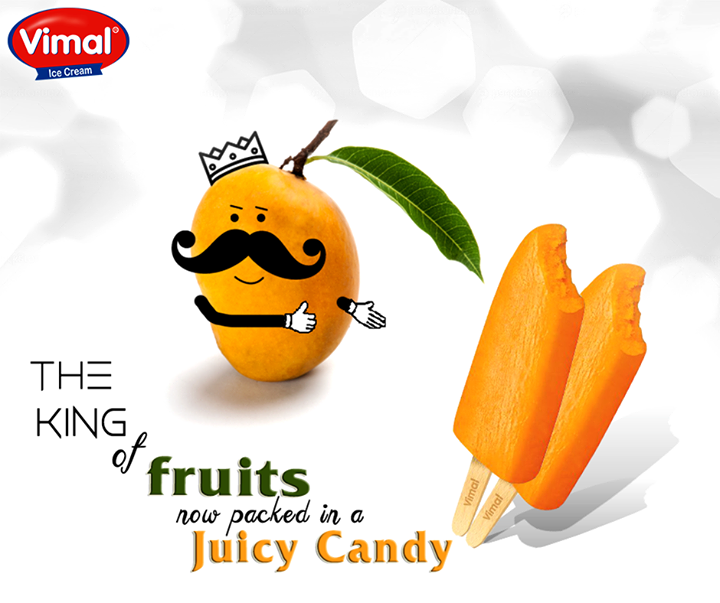 The king of fruits now packed in a juicy candy. We bet you will not stop at one.  #MangoCandy #SummerSpecialTreat #IcecreamLovers #VimalIcecream #Ahmedabad