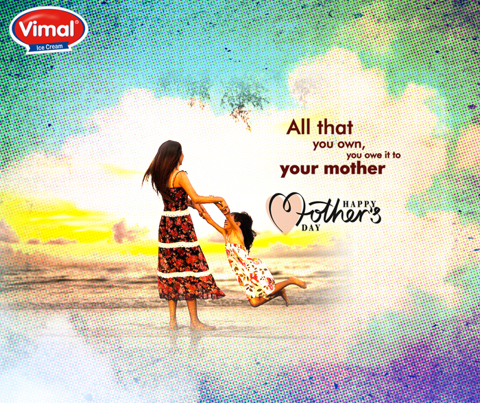 Mother's love is the fuel that enables a normal human being to do the impossible!  #HappyMothersDay #MothersDay #VimalIcecream #Ahmedabad