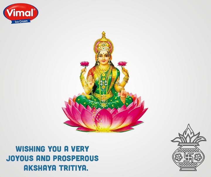 Wishing you a very Joyous and prosperous Akshaya Tritiya.  #AkshayaTritiya #VimalIcecream #Ahmedabad