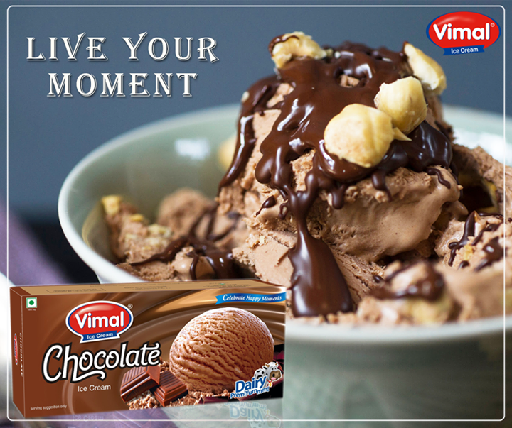 The art of being happy lies in finding a bowl rich chocolate Icecream! Don't you agree?  #BeingHappy #HappyTimer #Summers #IcecreamLovers #VimalIcecream #Ahmedabad
