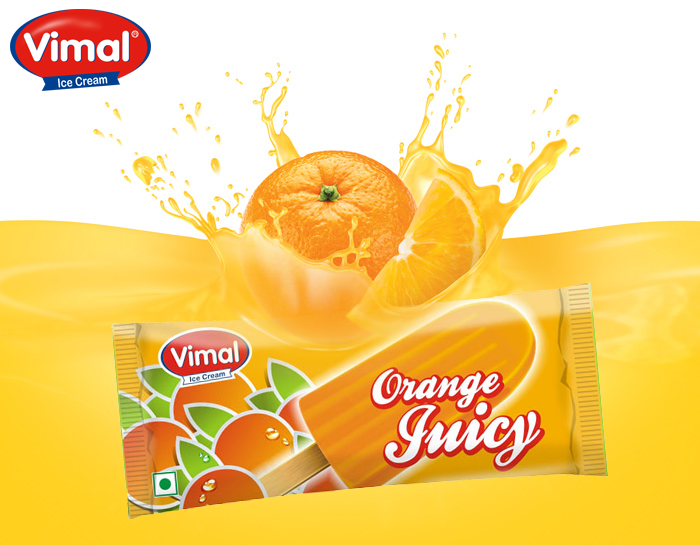 Time for some orangey sweetness! Pop it in mouth and enjoy the delicious citrus fun…  #OrangeCandy #SummerFun #IcecreamLovers #VimalIcecream #Ahmedabad