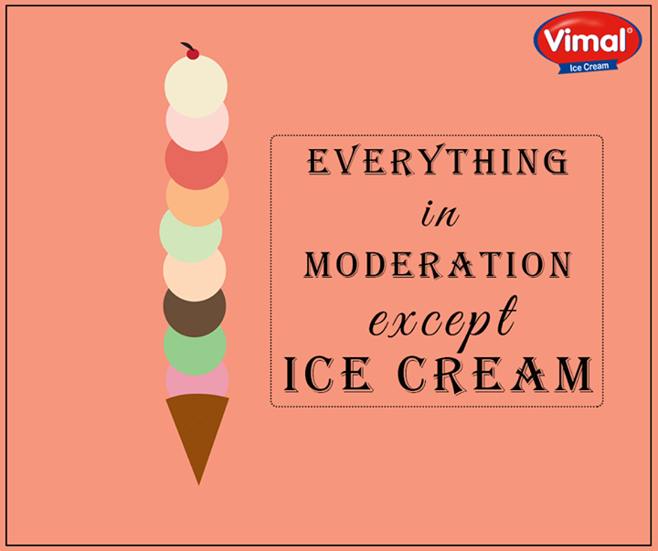 Ice-cream is something that can help you get over the #MondayBlues! Don't you agree?  #IcecreamLovers #VimalIcecream #Ahmedabad