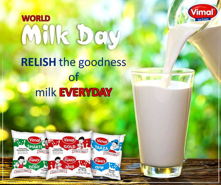 Let's celebrate nature's gift, our delicious companion in all our everyday activities!   #WorldMilkDay #VimalIcecream #Ahmedabad