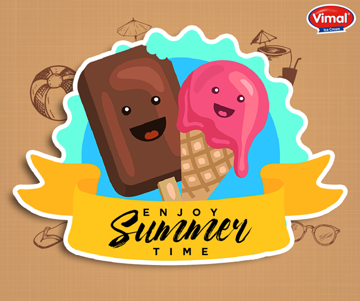 While the summers are in full swing, you know you need an #IceCream to cool things off! Don't you agree?  #Summers #IcecreamLovers #VimalIcecream #Ahmedabad