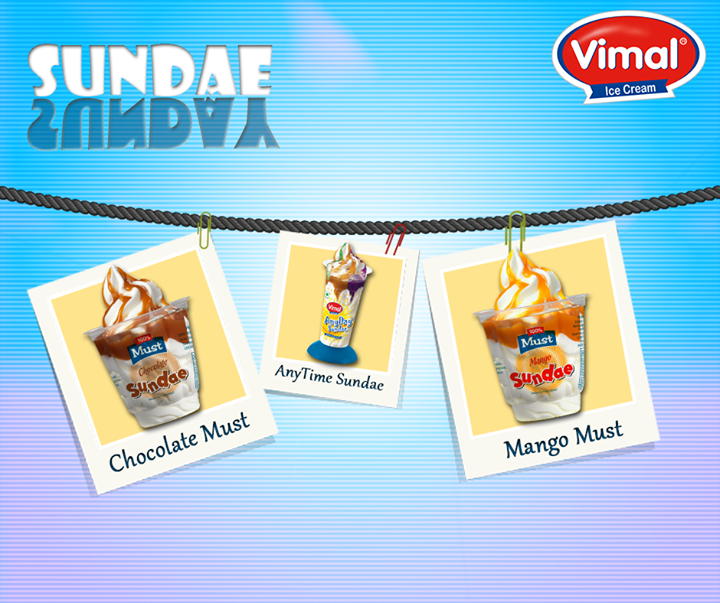 How do you plan to make your Sunday exciting? Try our Sundaes and experience a world of magic!  #Icecream #Sundae #Weekend #IcecreamLovers #VimalIcecream #Ahmedabad