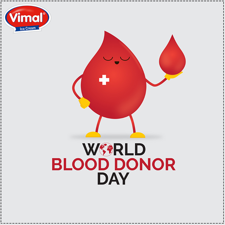 Be a #hero, donate blood!   #Worldblooddonorday #VimalIcecream #Ahmedabad
