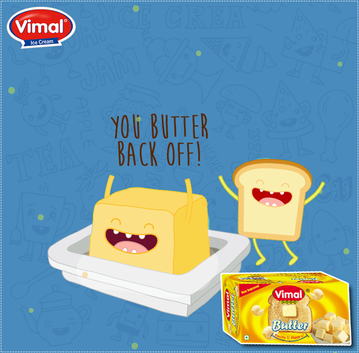 It's time for the bread to come in play. You butter back off!    #BreadnButter #VimalIcecream #Ahmedabad