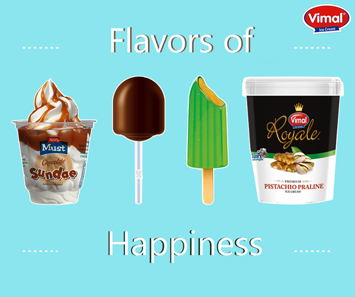 Ooze out your good mood with the delicious flavors of #Happiness from Vimal Ice Cream!  #Icecream #IcecreamLovers #VimalIcecream #Ahmedabad