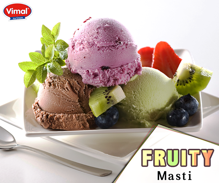 If you are all about fruits, then it would be your favourite indulgence!  #FruitIndulgence #IcecreamLovers #VimalIcecream #Ahmedabad