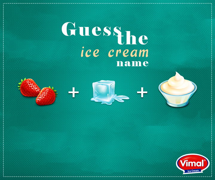 Here's the hint: It tastes #Berrilicious.  #IcecreamLovers #VimalIcecream #Ahmedabad
