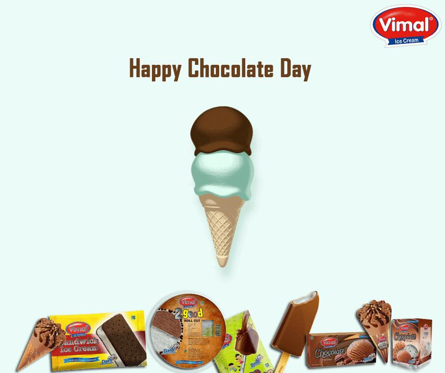 Our love for #chocolate is IN-CONE-CEIVABLE!   #ChocolateDay #VimalIceCream #ChocolateLovers