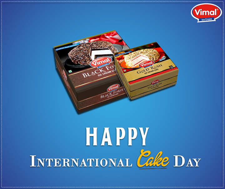 Vimal Ice Cream,  InternationalCakeDay, VimalIcecream, Ahmedabad