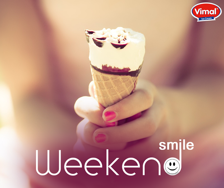 #IceCream is pure happiness, joy, bliss and goodness especially on this weekend!  #Weekend #IcecreamLovers #VimalIcecream #Ahmedabad