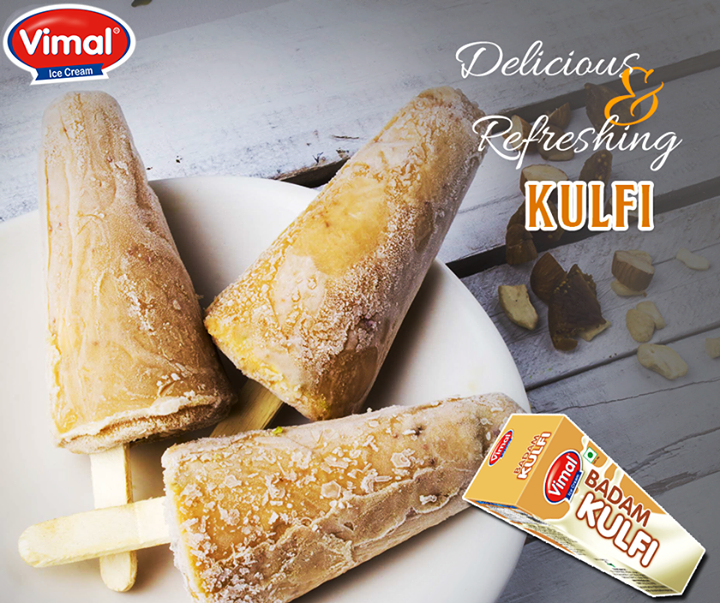 #Delicious #Kulfi is a perfect way to cool down after a spicy Indian meal. Don't you agree?  #IcecreamLovers #VimalIcecream #Ahmedabad