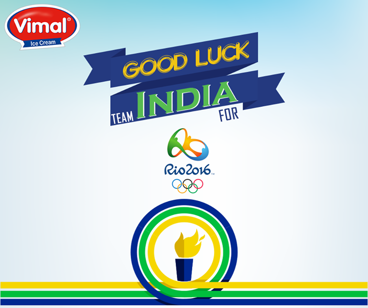 All the very best for Rio Olympics Team India.   #VimalIcecream #Ahmedabad
