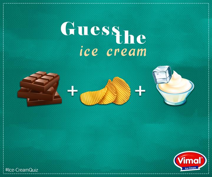 Here's the hint: It tastes #Chocoliciou.  #IcecreamLovers #VimalIcecream #Ahmedabad