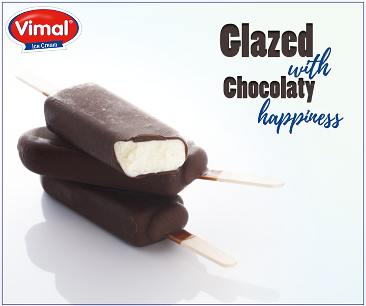 No one can ever say no to chocolate glazed happiness.  #IcecreamLovers #VimalIcecream #Ahmedabad