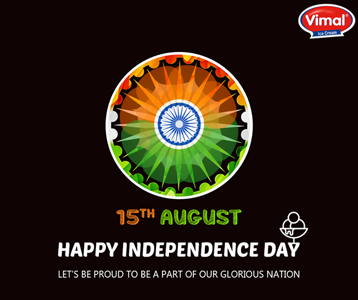 Feel the patriotism from within.  #IndependenceDay #HappyIndependenceDay #VimalIcecream #Ahmedabad