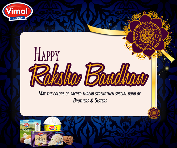 Let's celebrate the beautiful bond of love, emotions, care and happiness.   #HappyRakshaBandhan #VimalIcecream