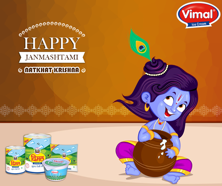 May the divine grace be with you today & always.  #Janmashtami #HappyJanmashtami #VimalIcecream #Ahmedabad