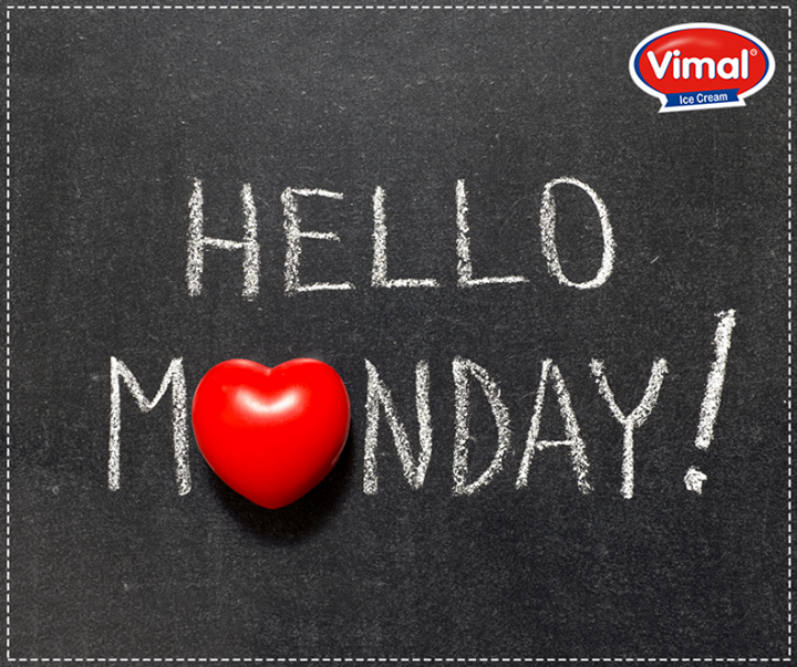 It's Monday. Have a sunny and happy week!  #HappyMonday #VimalIcecream #Ahmedabad
