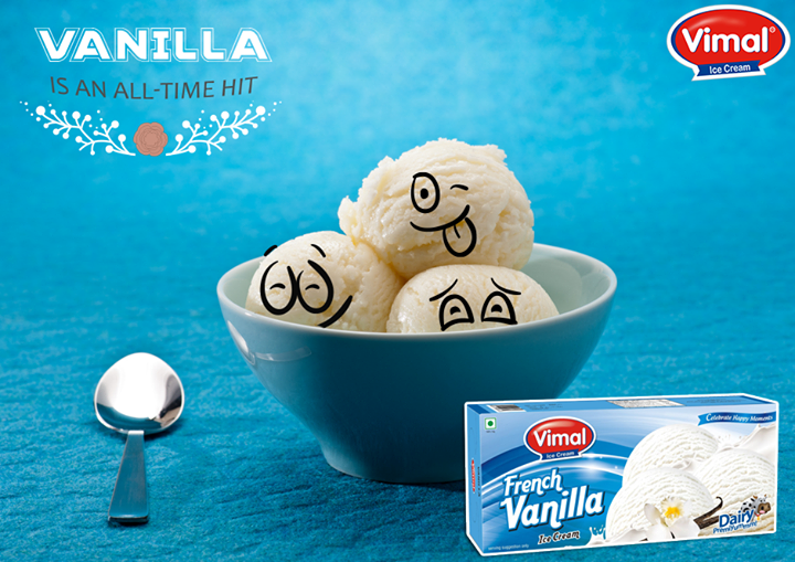 This flavor always tops the chart of deliciousness. Don't you agree?  #Vanilla #IcecreamLovers #VimalIcecream #Ahmedabad