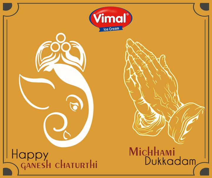 Festive wishes on the occasion of #GaneshChaturthi & #samvatsari from Vimal Ice Cream !