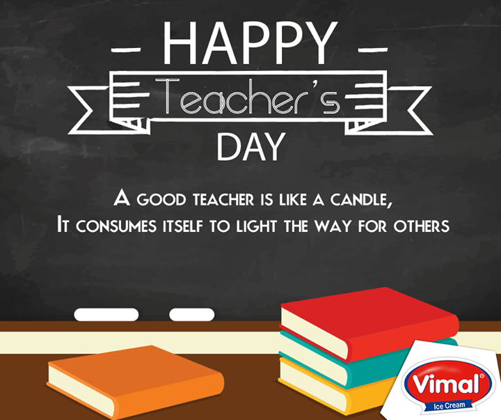 Vimal Ice Cream wishes you all a Happy Teacher's Day.  #HappyTeachersDay #VimalIcecream #Ahmedabad