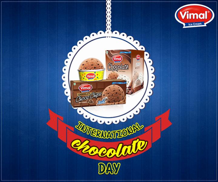 **Because #chocolate heals everything**  #VimalIceCream #InternationalChocolateDay #ChocolateIceCreamLovers