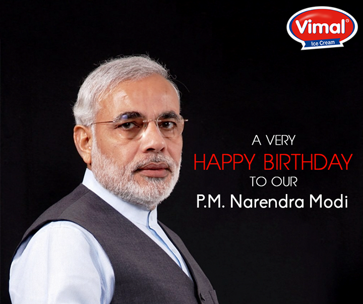 Wishing our beloved Prime Minister Shri Narendra Modi ji a very happy birthday.   #HappyBdayPM #VimalIceCream #Namo